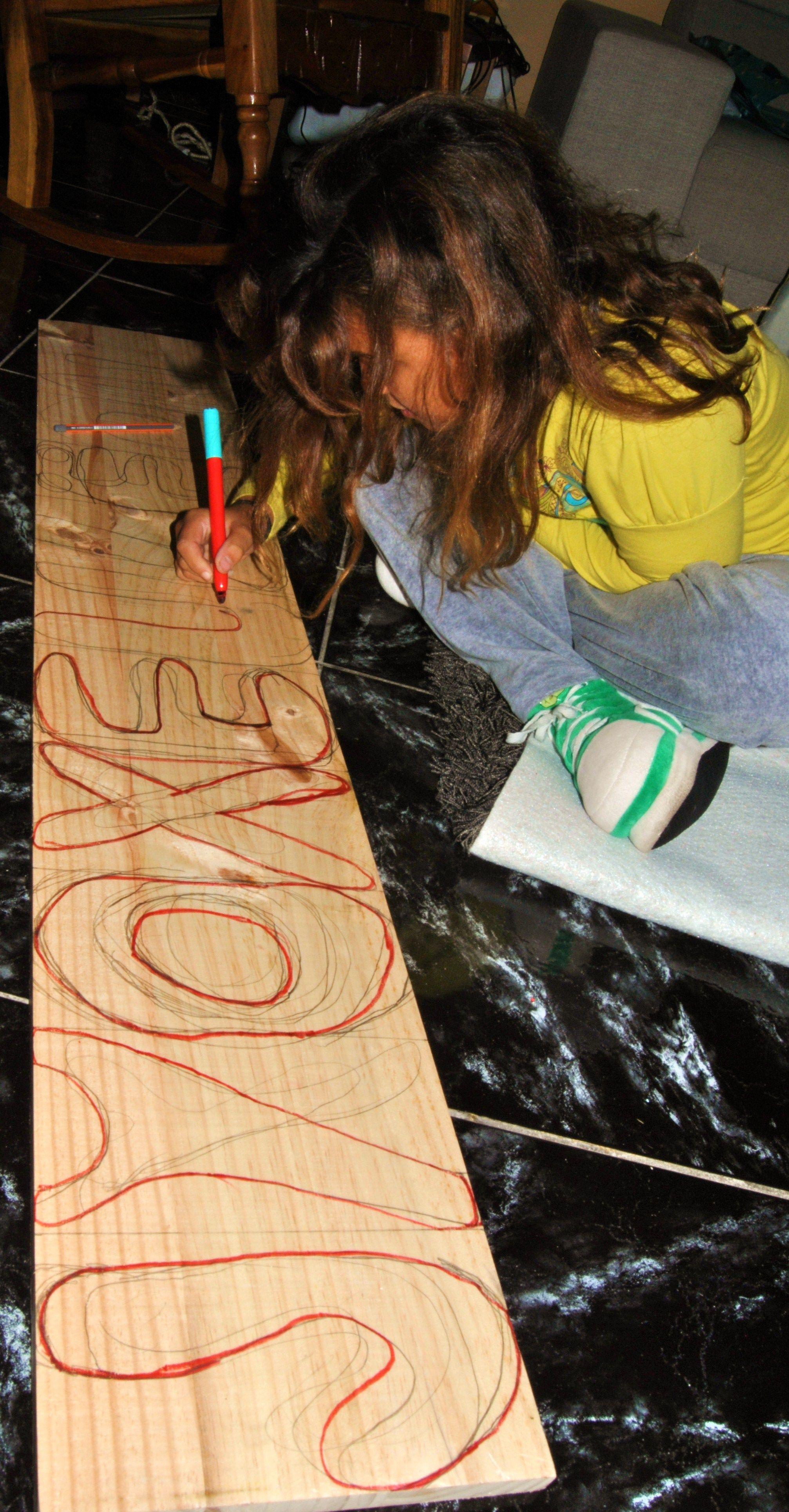 letras de madera ...