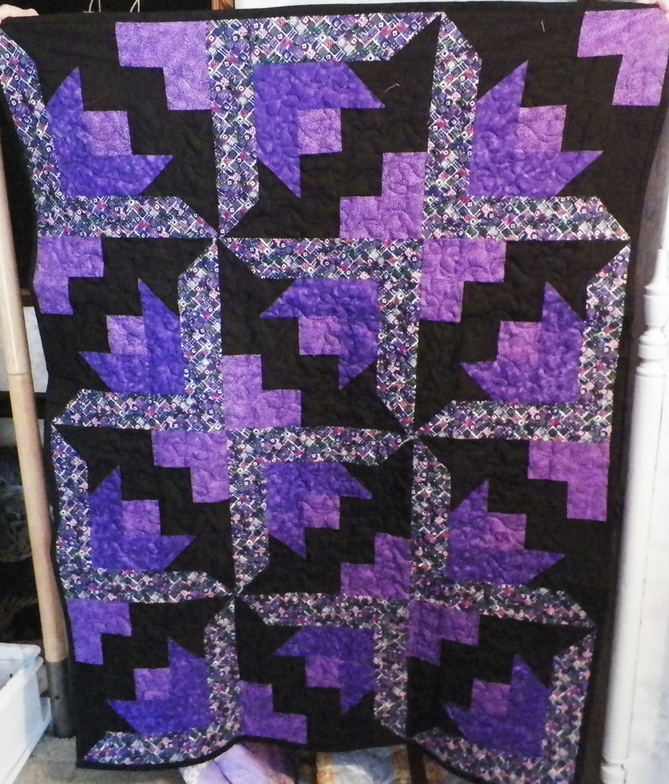 """Love purple, couldn't resist this pattern- """" butterflies"""""""