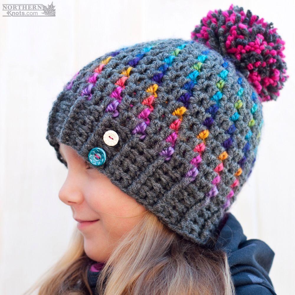 Crochet hat pattern northern lights beanie hat by northern crochet hat pattern northern lights beanie hat by northern knots pom pom bankloansurffo Images