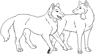 Wolf Profile Coloring Page