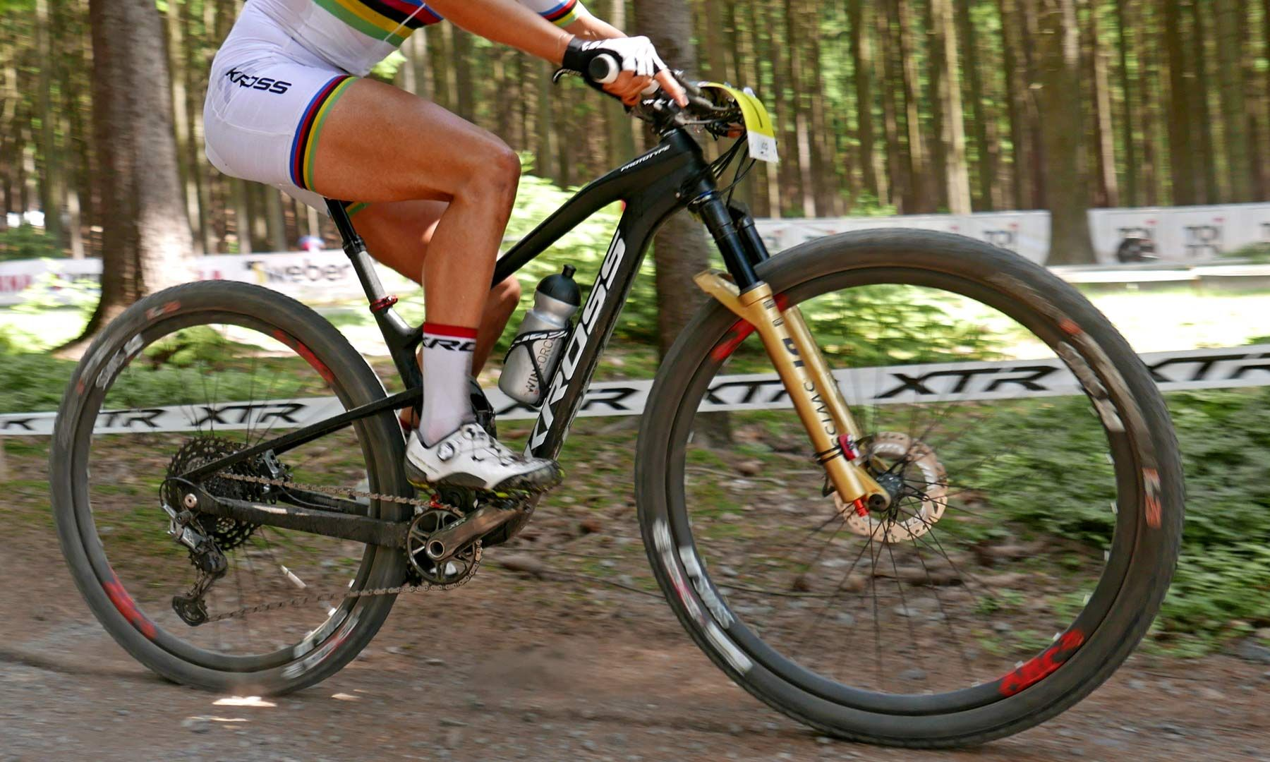 Prototype Kross Earth 100mm Carbon Xc Bike Of World Champ Jolanda Neff New Xtr Bike Neff Champs