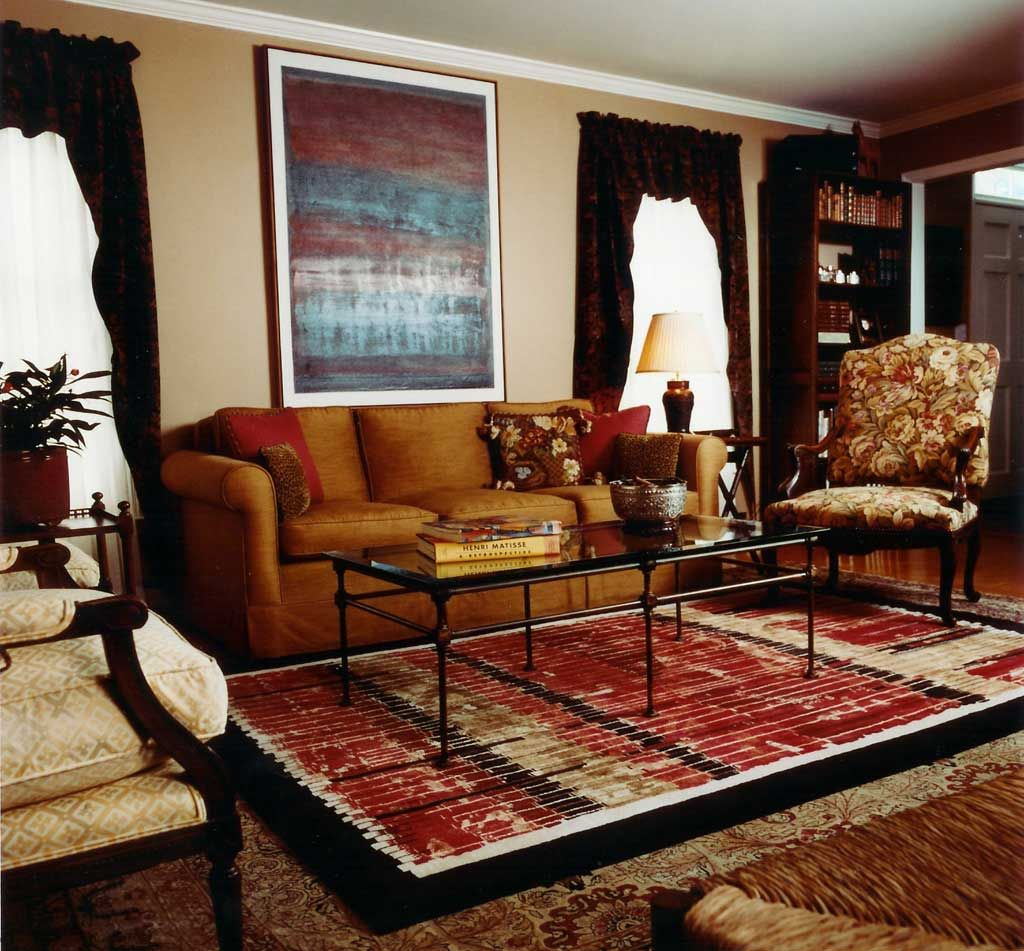 Red rug in living room unique living room rugs design ideas