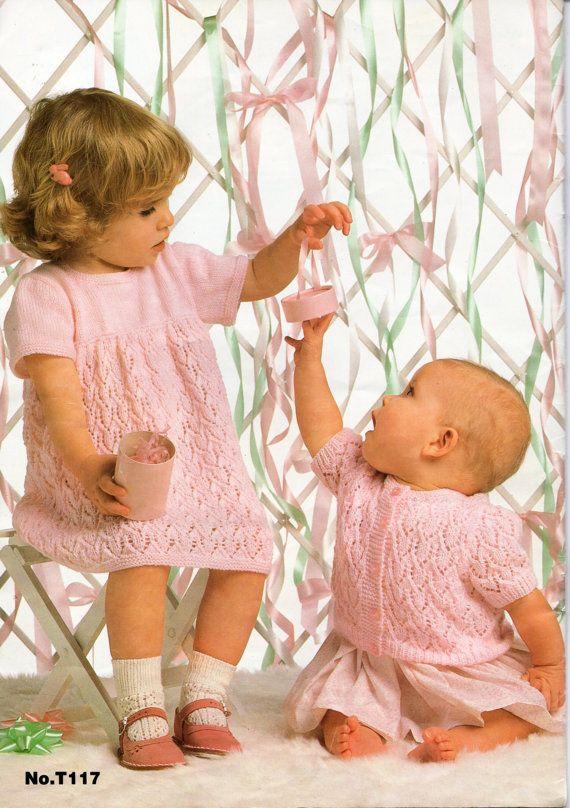 Baby Knitting Pattern Baby Dress Baby Cardigan Baby por Minihobo