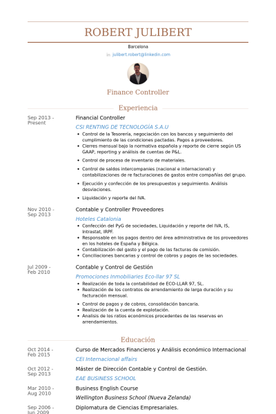 controller resume sample resume sample 6 controller chief
