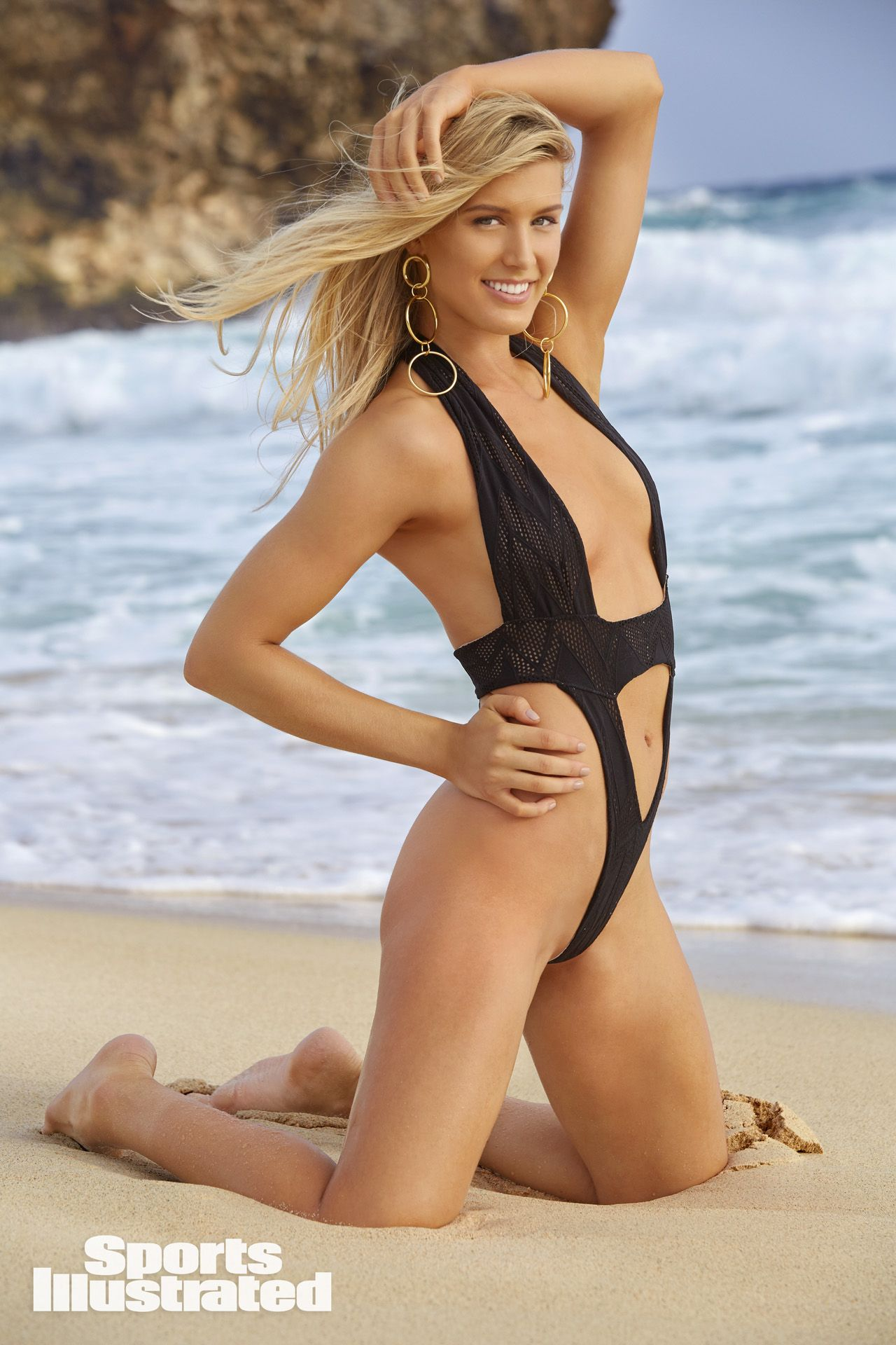 3b8a5e73e Genie Bouchard was photographed by James Macari in Aruba. Swimsuit by  Dolcessa. Si Swimsuit