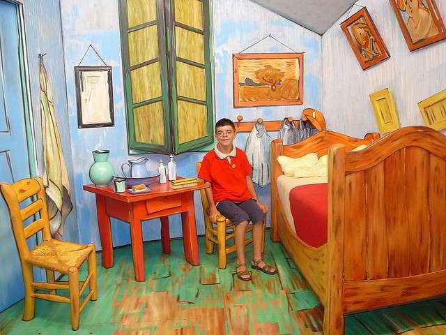 children playroom based on van gogh bedroom in arles whimsical
