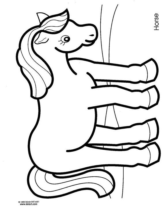 Horse coloring page   mis cositas   Pinterest   Colores, Moldes y ...