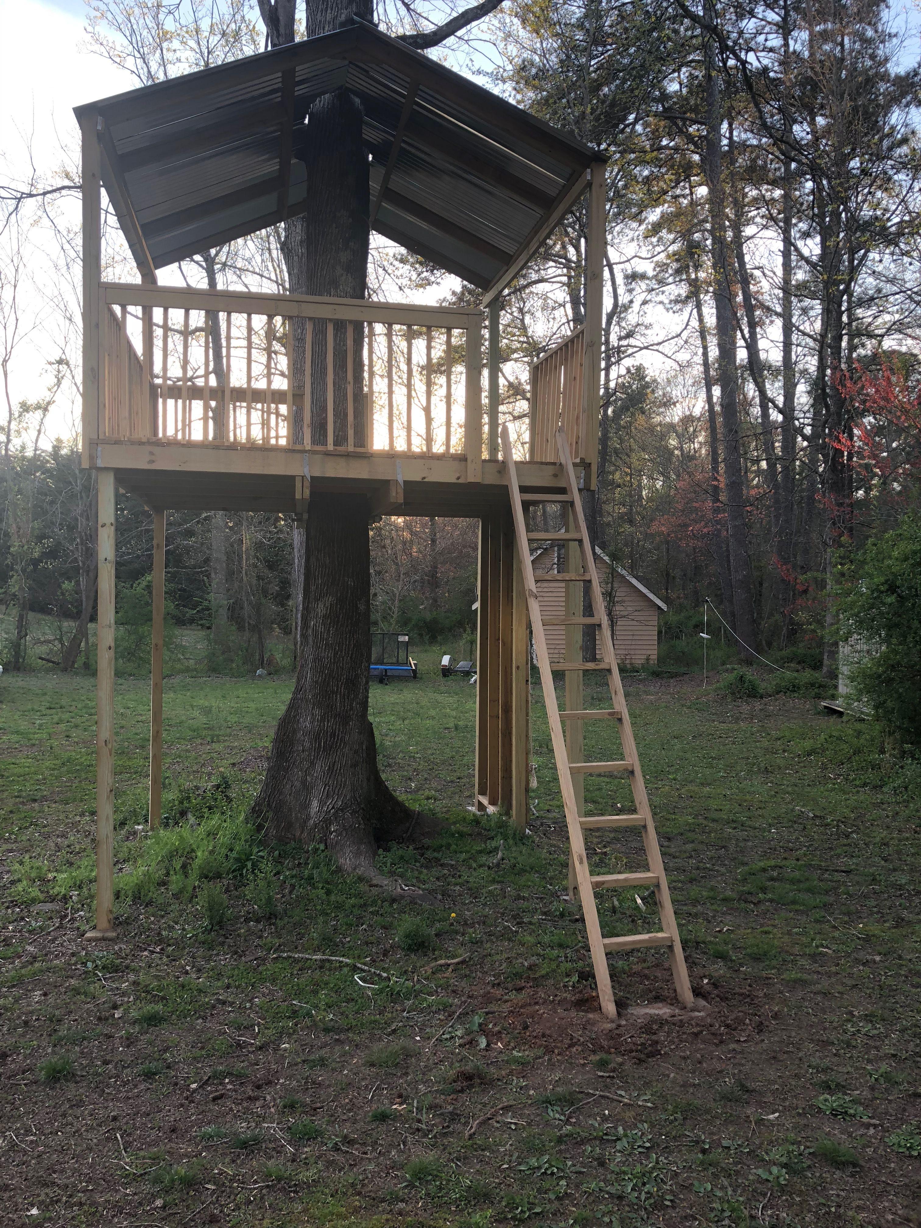 Zip line platform | Ziplining, Backyard, Diy zipline