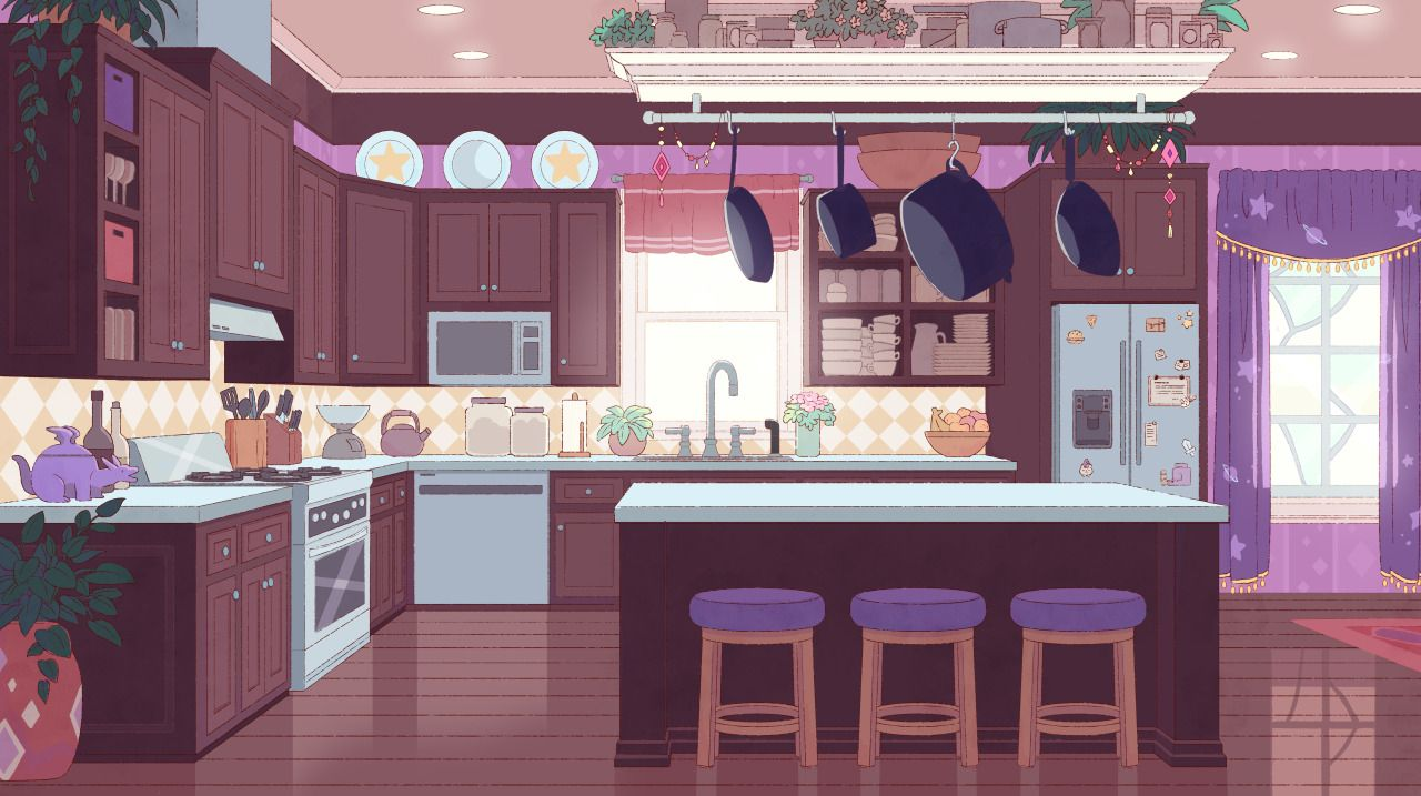 Heres Another Colored Background For Bee And PuppyCat Its Deckards Kitchen Complete With Dragon