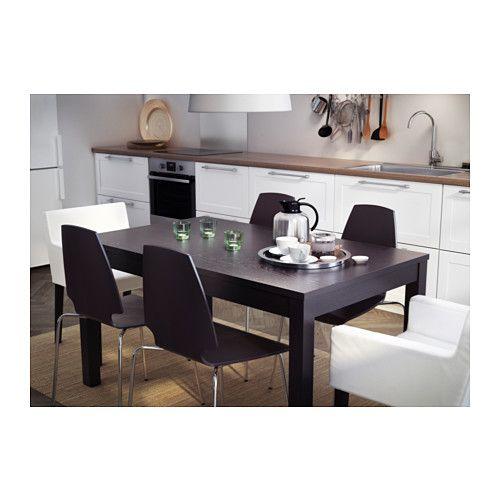 Bjursta tavolo allungabile marrone nero ikea e tavolo for Bjursta tavolo