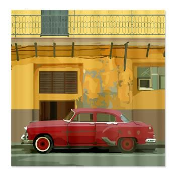 Havana Vintage Car Shower Curtain