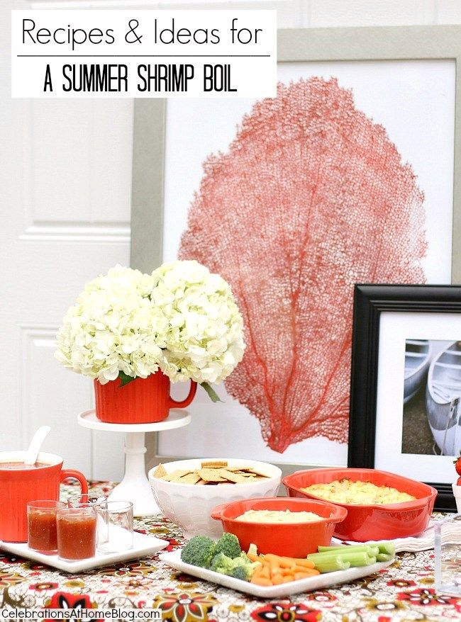 IDEAS & RECIPES TO HOST A SHRIMP BOIL #entertaining #summer #cwcolor #red #sponsored