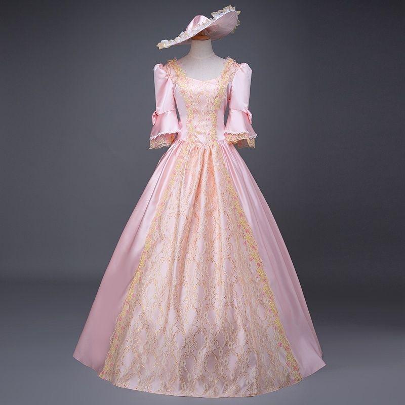 Gothic Women Court  Dress Ball Gown With Crinoline Vintage VictorianParty Gown