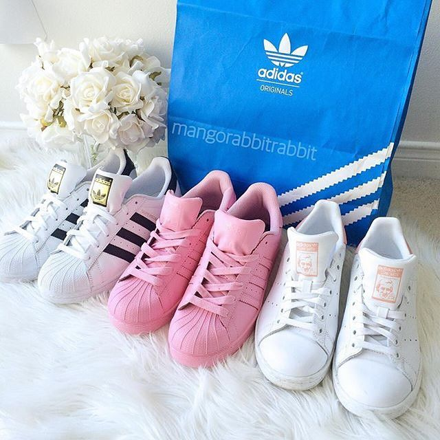 Can I have the pink ones!!!   Sapatilhas adidas, Sapatos