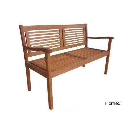Wooden Garden Bench Eucalyptus Patio Porch 2 Seater 640 x 480