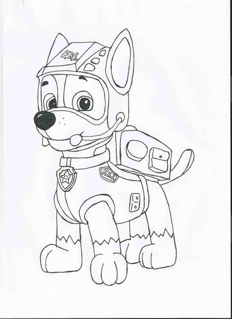 Paw patrol colouring pages free - Coloring Pages Paw Patrol Everest