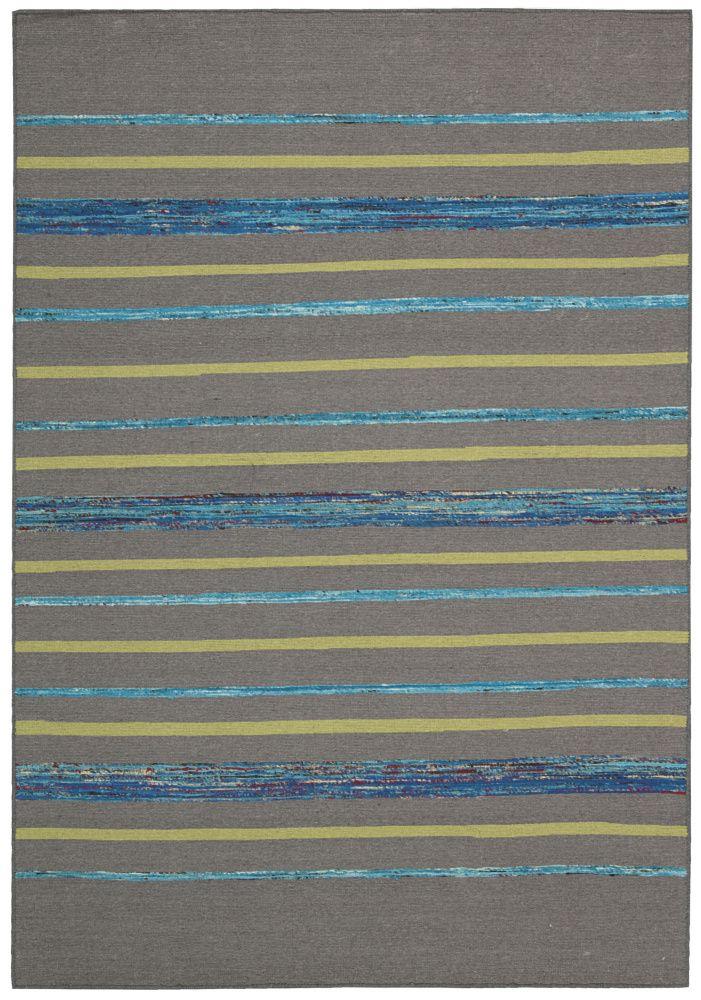 RugStudio presents Nourison Spectrum Spe04 Grey Turquoise Woven Area Rug