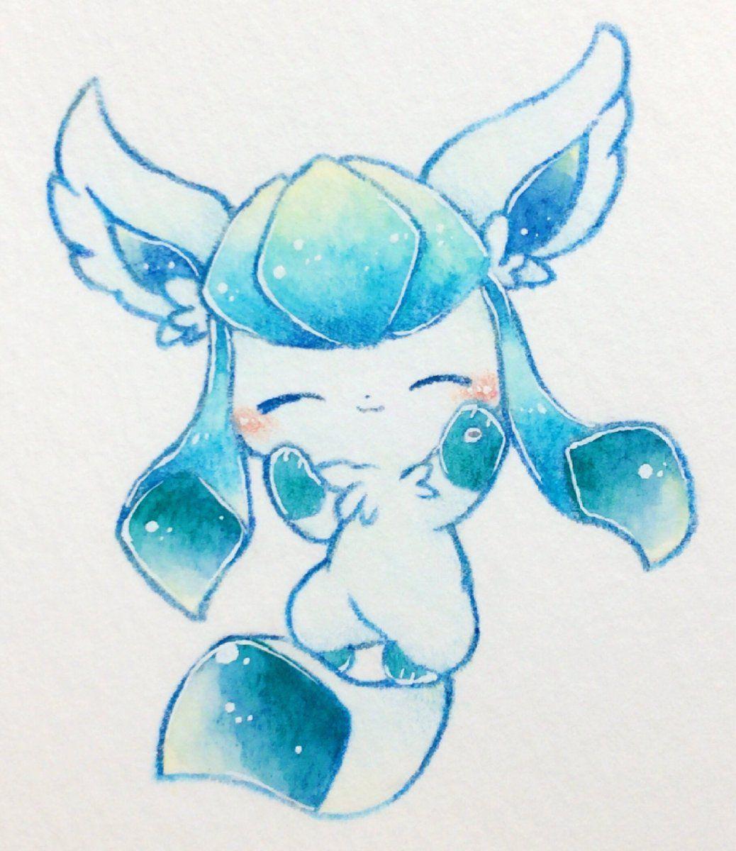 Glaceon Pokemon Desenho Desenhos Kawaii Personagens Pokemon