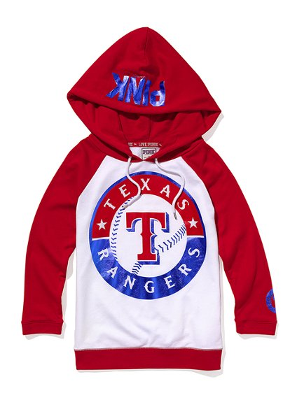 new style 86ab5 5a811 Texas Rangers Baseball Hoodie - Victoria's Secret Pink ...