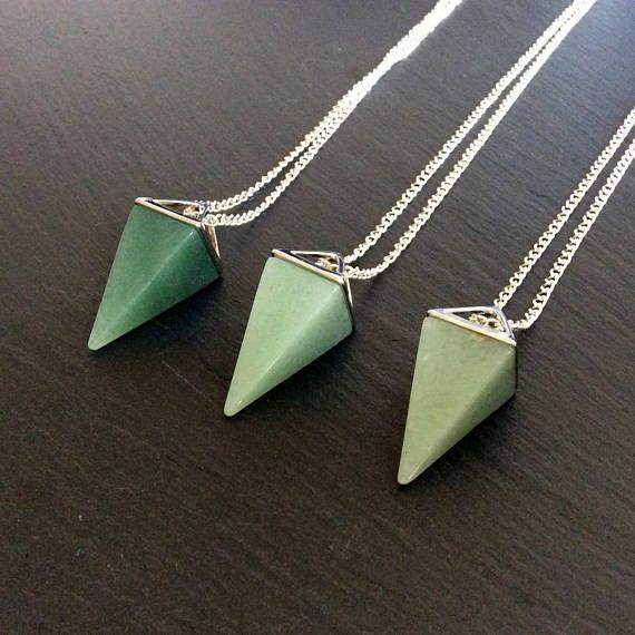 Green aventurine necklace aventurine jewelry aventurine pendant green aventurine necklace aventurine jewelry aventurine aloadofball Choice Image