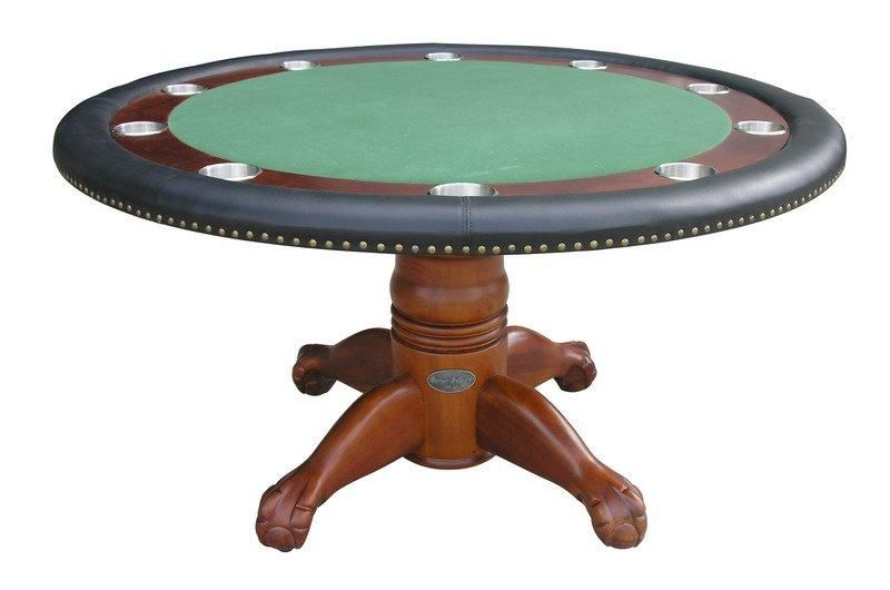 60 Round Poker Table Berner Billiards 60 Poker Table With Optional Dining Top Converts Instantly From An Round Poker Table Poker Table Antique Poker Table