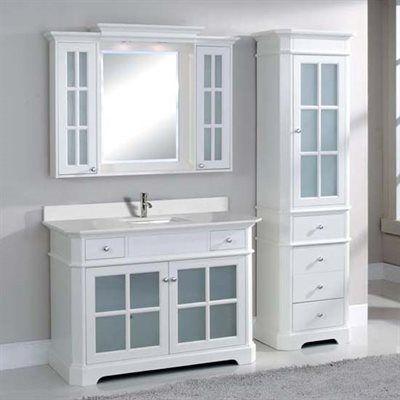 TidalBath HTG Heritage 48-in Bathroom Vanity | Lowe's ...