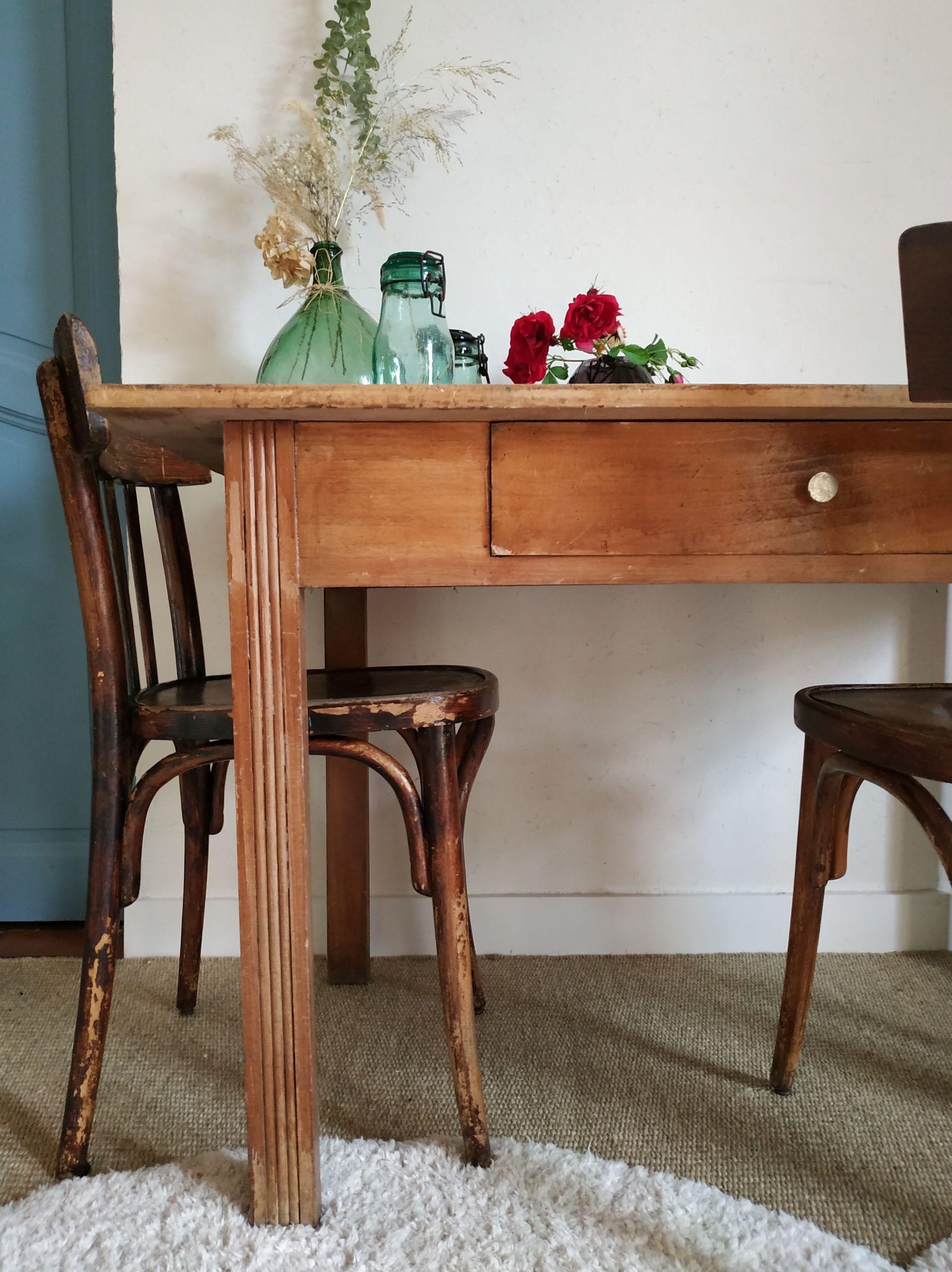 Table de ferme ancienne en bois   Factory Vintage   Table de ferme ...