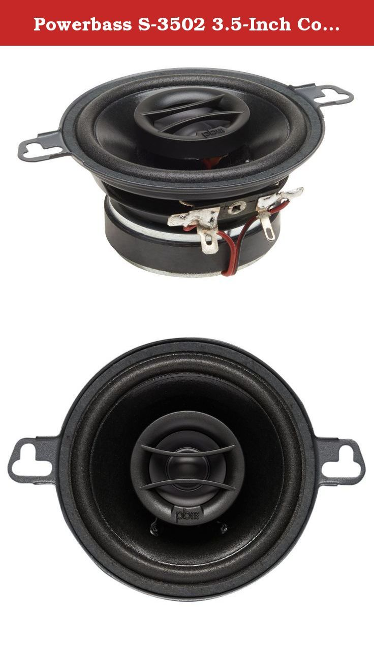 Powerbass S 3502 35 Inch Coaxial Oem Speakers Set Component Polk Audio Car Subwoofer Wiring Kits Of 2 Since