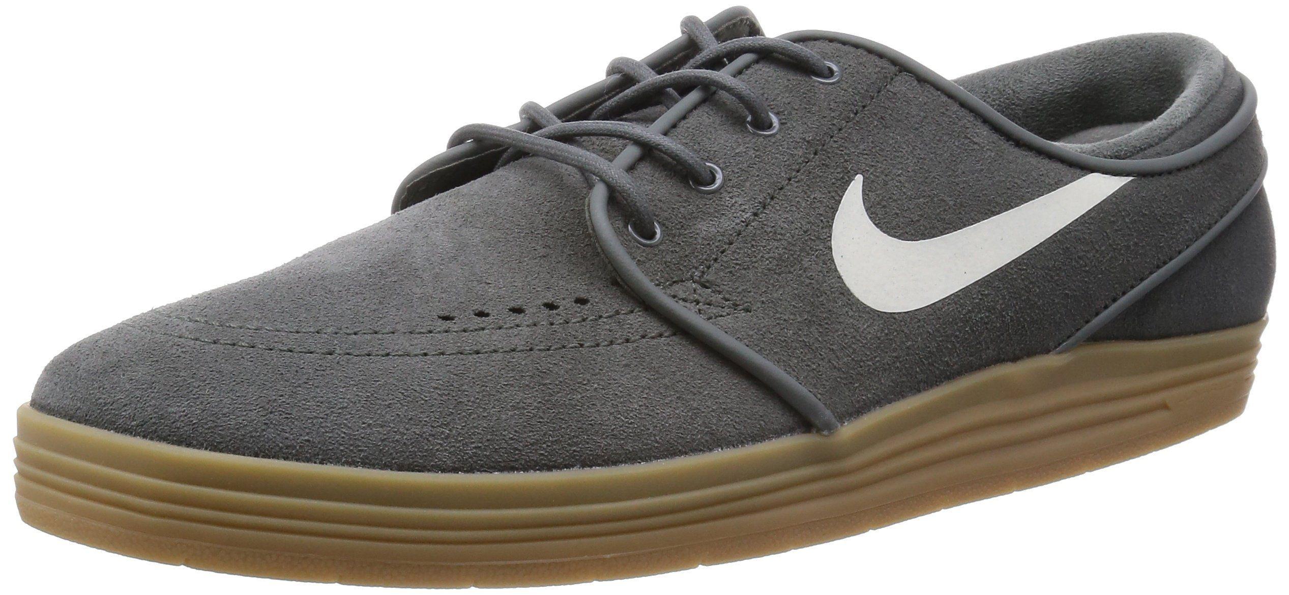 Nike Men's Lunar Stefan Janoski River Rock/Sail/Gm Light Brown Skate Shoe  7.5