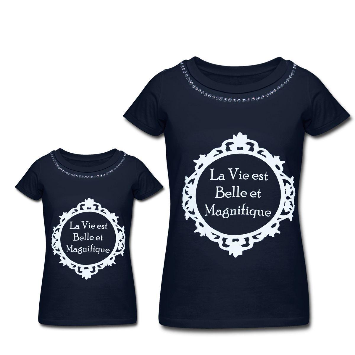 28c8df984c4fb Kit Camisetas Tal Mãe e Tal Filha Belle Tal Mãe e Tal Filha - Azul Marinho