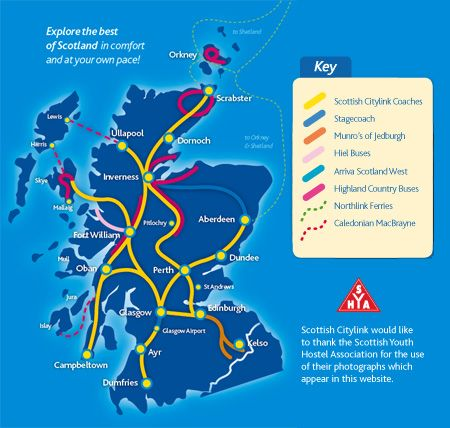 Citylink Explorer Pass Route Map Scotland Traveling around