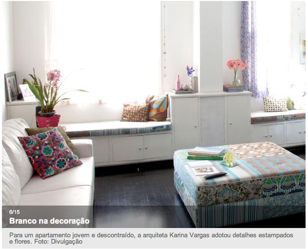 Branco na decoração. Apartamento jovem e descontraído