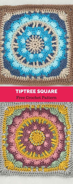 Tiptree Square [ FREE CROCHET PATTERN | Crocheted Granny Squares ...
