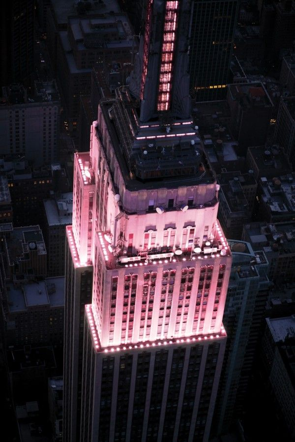 Empire State Building -  ... Around the World Dressed in Pink for Breast Cancer Awareness Month
