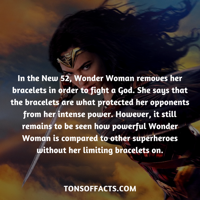 In The New 52 Wonder Woman Removes Her Bracelets In Order To Fight