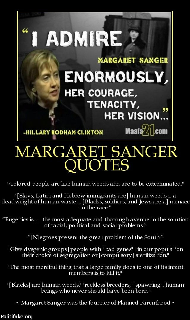 Racist Quotes Margaret Sanger Quotes  F*c You Killary Cunton  Pinterest .