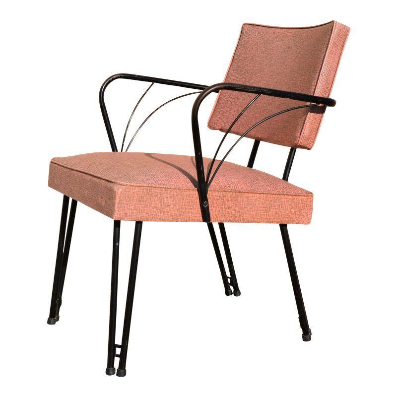 Vintage Mid Century Modern Viko Baumritter Lounge Chair Metal