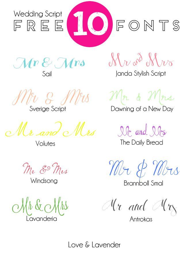 10 free fonts for your wedding invitation - Free Wedding Invitation Fonts