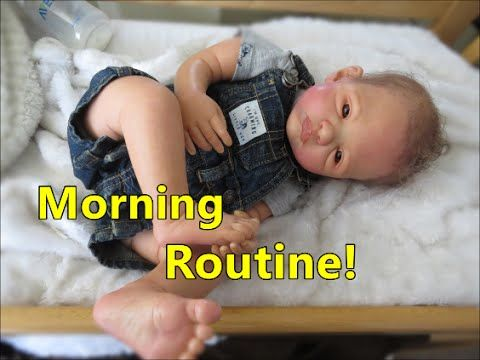 Real babyzimmer ~ Reborn baby dolls morning routine! newborn baby doll realistic
