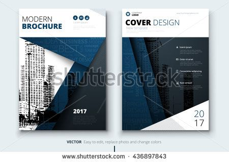 Modern Dark Blue Brochure Design Brochure Template Brochures