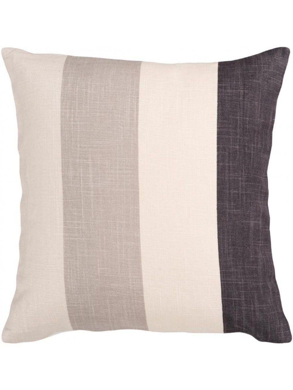 Colorblock Stripe Pillow Silver Pitch Black Black Throw Pillows