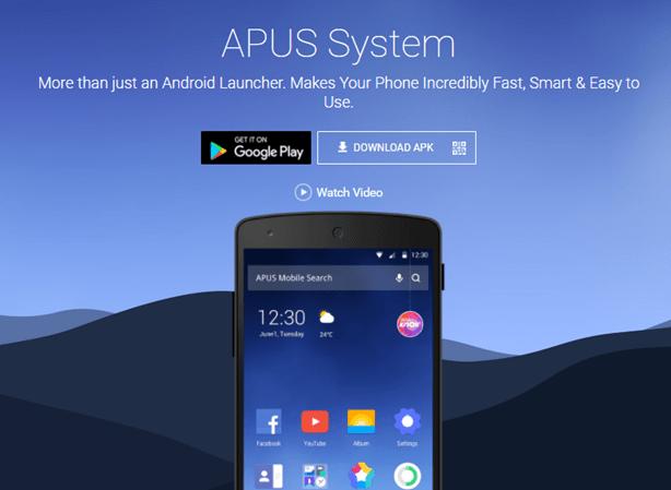 Download APUS Launcher Apk Latest Version 3.7.5 For Free