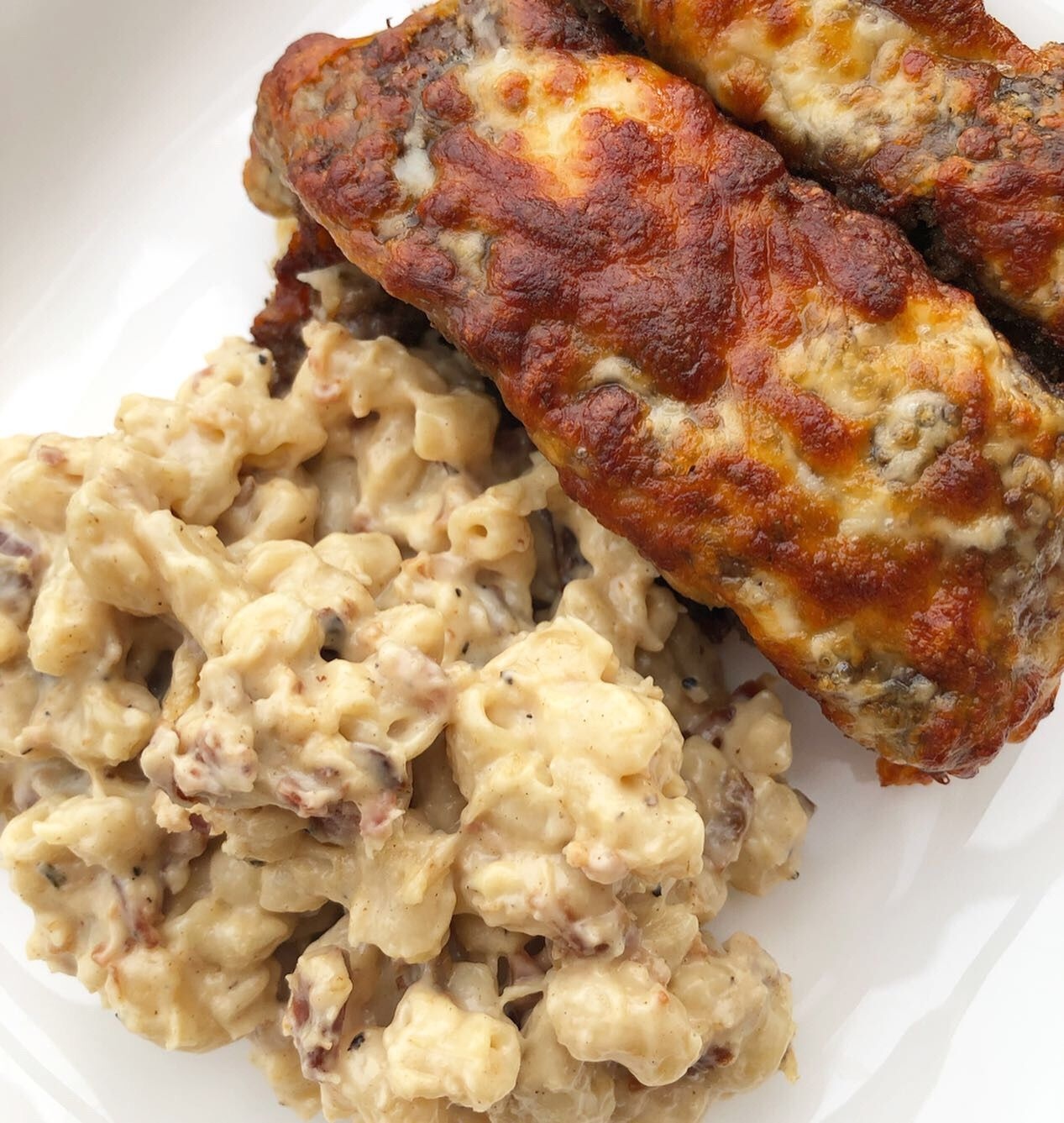 Air Fryer Pizza Meatloaf w/ Bacon Gouda Mac Pizza