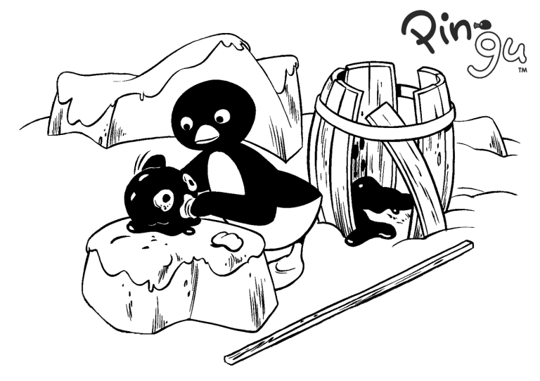 Best Pingu Coloring Page for Children | Fun Pingu Coloring Pages for ...