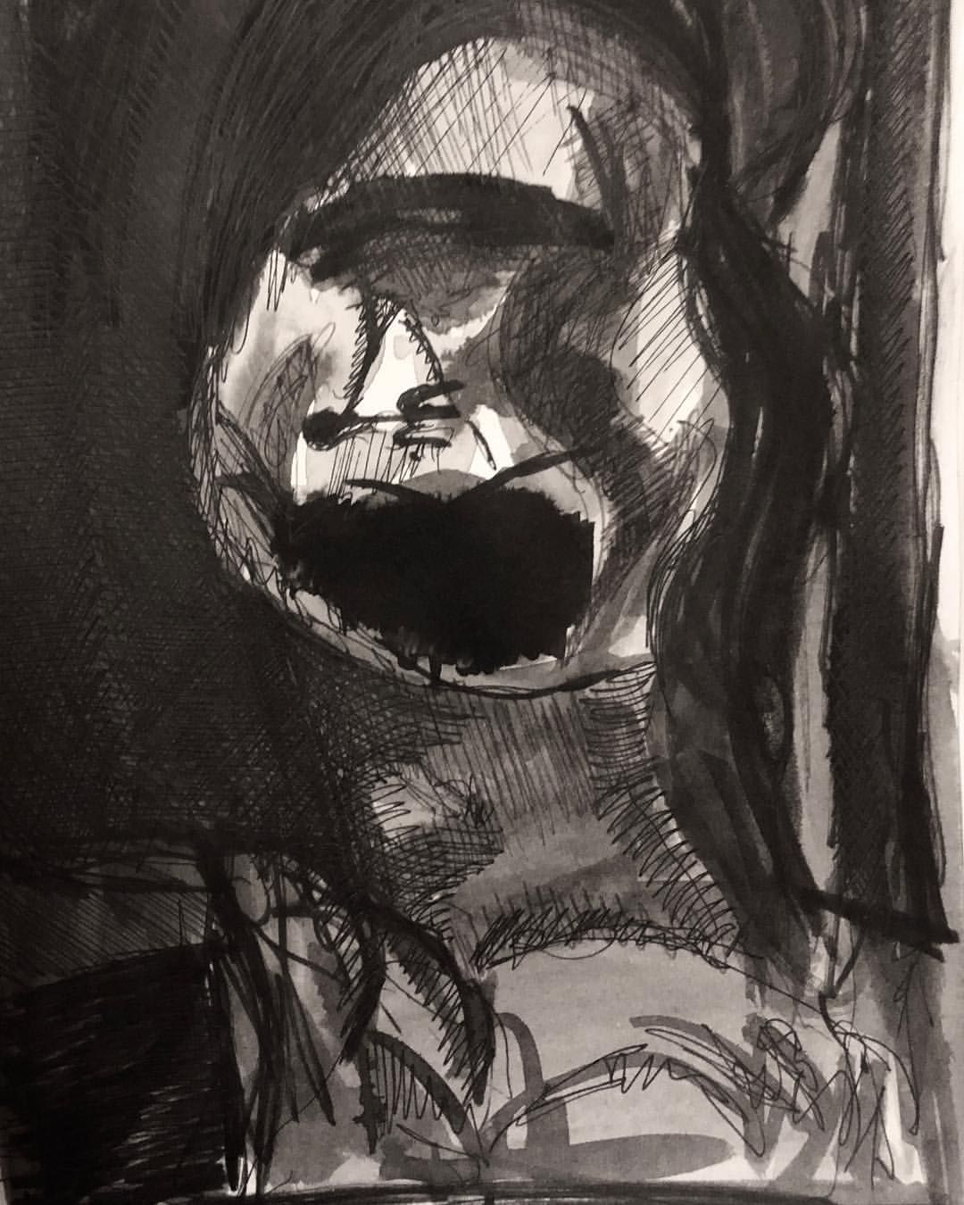 Fear The Voices 201018 Inktober Indian Ink Nib And Brush