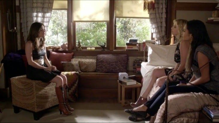 Meninas Quase invisiveis: O quarto da Aria de Pretty Little Liars