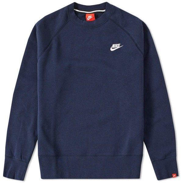 Nike AW77 Fleece Crew | Nike crewneck sweatshirt, Nike ...