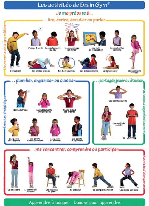 education kinesth sique brain gym et apprentissages des enfants gym apprentissage et parents. Black Bedroom Furniture Sets. Home Design Ideas
