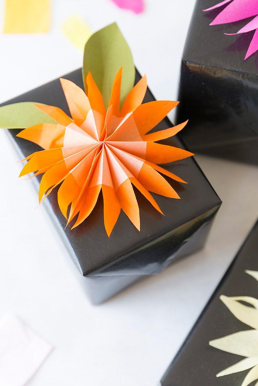 Diy Paper Tissue Flower Gift Topper Tissue Paper Flower And Gift