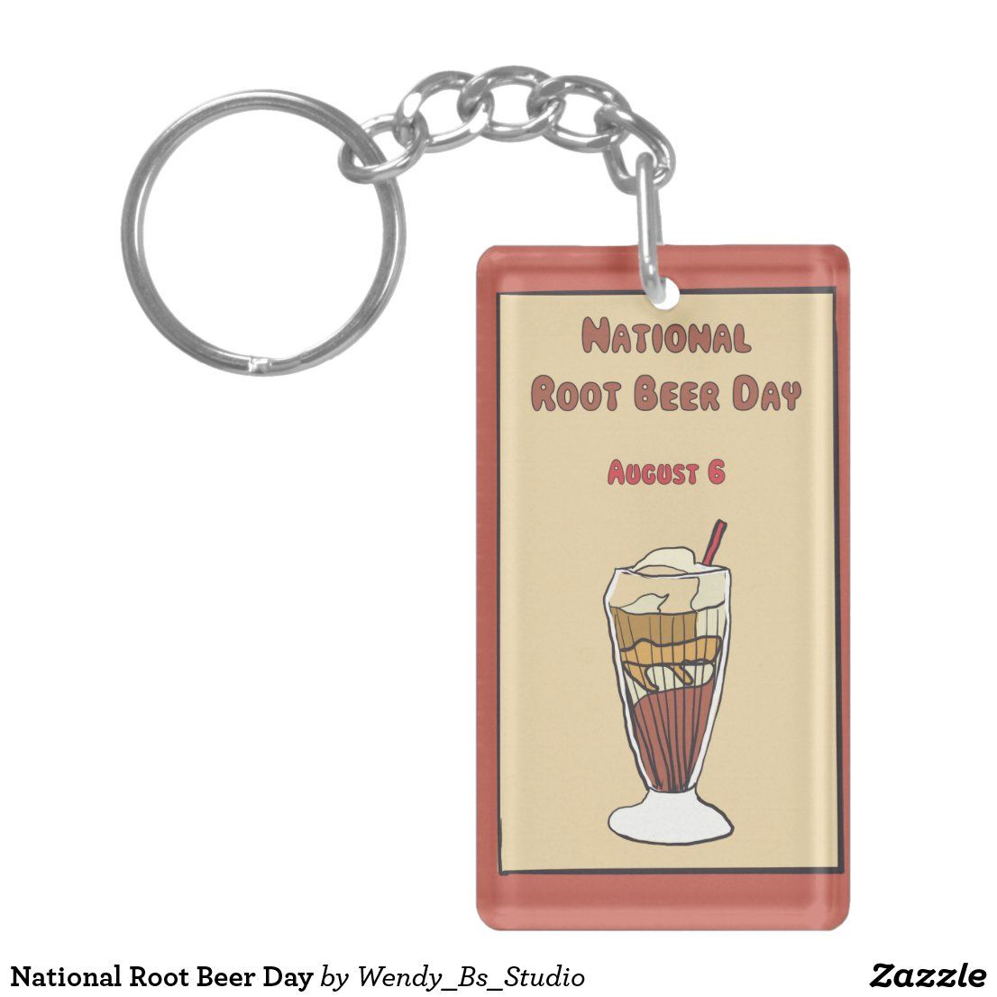 National Root Beer Day Keychain | Zazzle.com